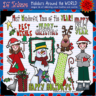 Holidays Around The World: USA Clip Art Download