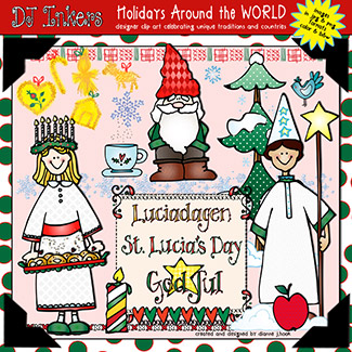 Holidays Around The World: St. Lucia Day Clip Art Download