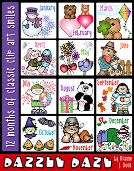 Dazzle Daze Clip Art Download Collection