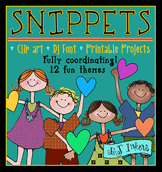 Snippets - Coordinating Clip Art, Fonts and Printables Collection