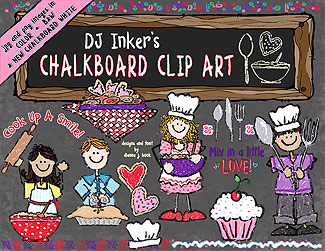 Chalkboard Kitchen Kids Clip Art Download