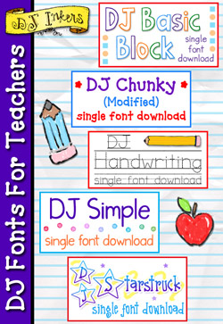 DJ Fonts For Teachers Download