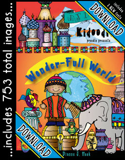 Kidoodlez Wonder-full World Clip Art Download