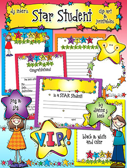 Star Student Clip Art and Printables Download