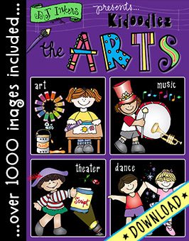 Kidoodlez The Arts - Art, Dance, Drama and Music Clip Art Download