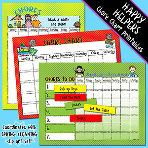 Happy Helpers Printable Chore Charts