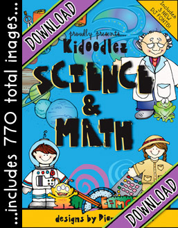 Kidoodlez Science and Math Clip Art Download