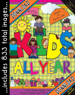 Kids All Year Clip Art Download