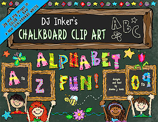 Chalkboard Alphabet Fun Clip Art Download