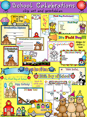 School Celebrations Clip Art and Printables Download