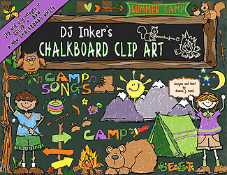 Camp Chalkboard Clip Art Download