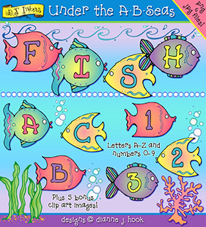 Under The A-B-Seas Clip Art Download