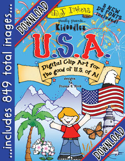 Kidoodlez USA - State Symbols Clip Art Download