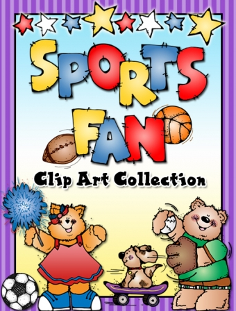 Sports, adventure, smiles & outdoor fun clip art created by DJ Inkers
