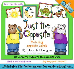 Just The Opposite File Folder Game Download