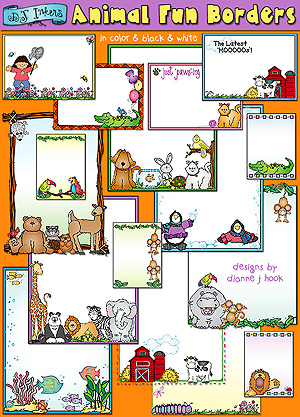 Animal Fun Clip Art Borders Download
