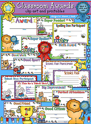 Classroom Awards Clip Art and Printables