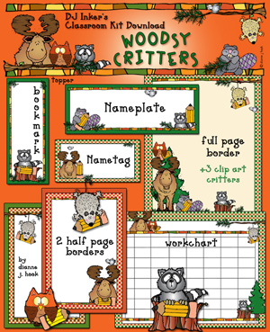 Woodsy Critters Classroom Kit Download