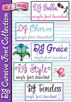 DJ Cursive Fonts Collection Download