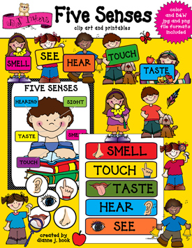 Five Senses Clip Art and Printables Download