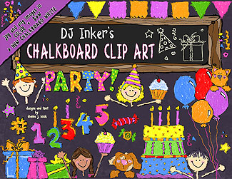 Chalkboard Party Clip Art Download