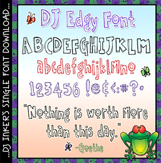 DJ Edgy Font Download