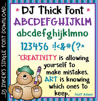 DJ Thick Font Download