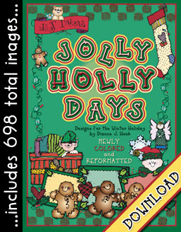 Jolly Holly Days Clip Art Download