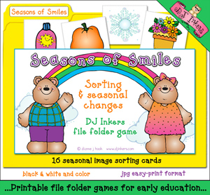 Seasons of Smiles File Folder Game Download