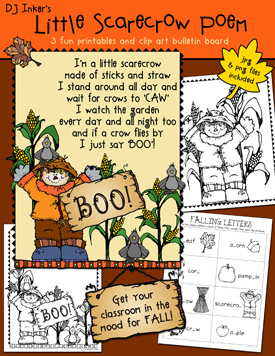 Little Scarecrow Clip Art and Printables Download