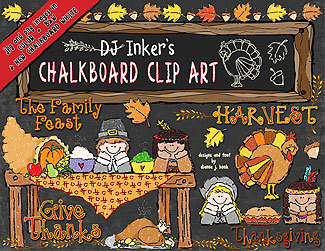 Chalkboard Thanksgiving Clip Art Download
