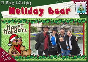 Holiday Bear Photo Card Download