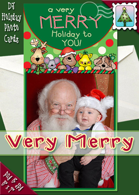 Very Merry Photo Card Download