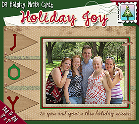 Holiday Joy Photo Card Download