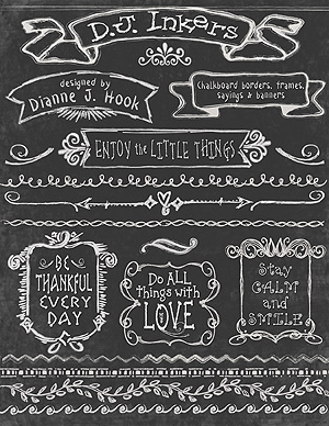 Chalk Borders, Banners and Frames Clip Art Download