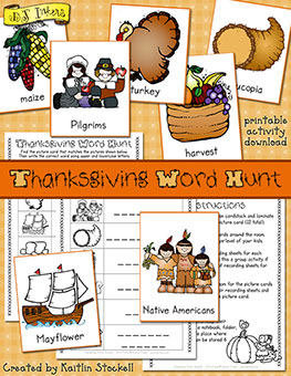 Thanksgiving Word Hunt Activity Download