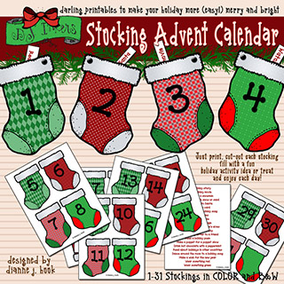Stocking Advent Calendar Activity Download