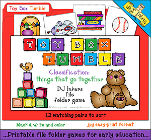 Toy Box Tumble File Folder Game Download