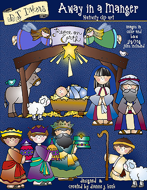 Away in a Manger Clip Art Download