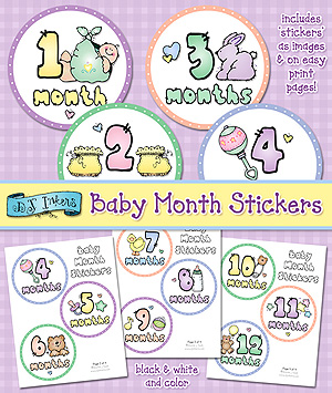Baby Month Stickers Printable Download
