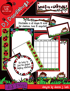 Ladybugs Borders and Printables Download