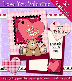 Love You Printable Card Download