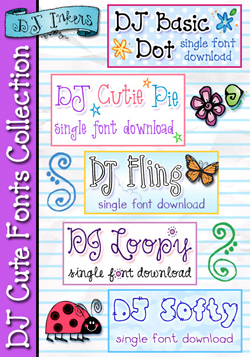 DJ Cute Fonts Collection Download