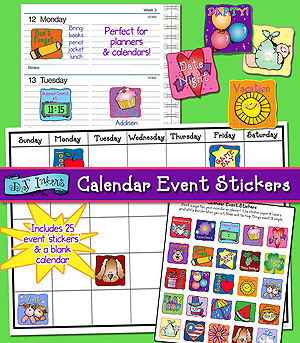 Calendar Event Stickers Printable Download