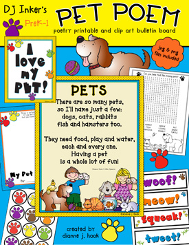 Pet Poem Printable Activity Download
