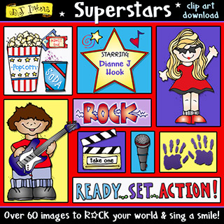 Super Stars - Music, Theater and Movies Clip Art Download