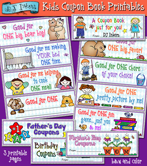 Kids Coupon Book Printable Download