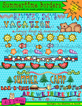 Summer Borders Clip Art Download