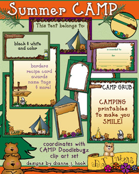 Summer Camp Projects and Printables Download