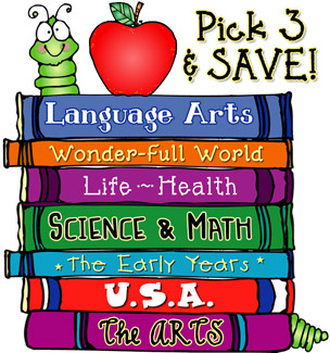 Pick 3 School Clip Art CD's and SAVE!